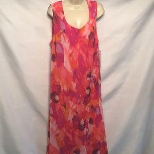 NWT floral flowing shear Dress 20W